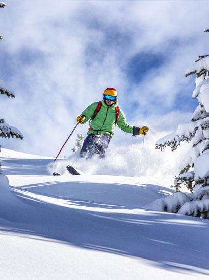 Ski, snowboard, sur la neige