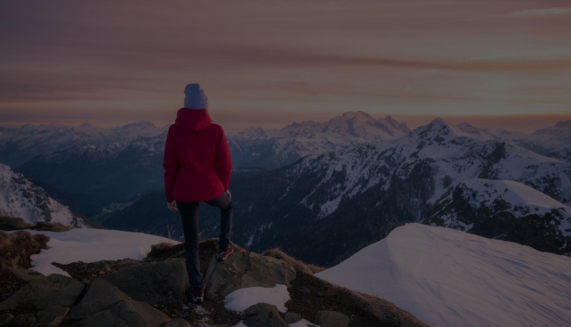 à la montagne